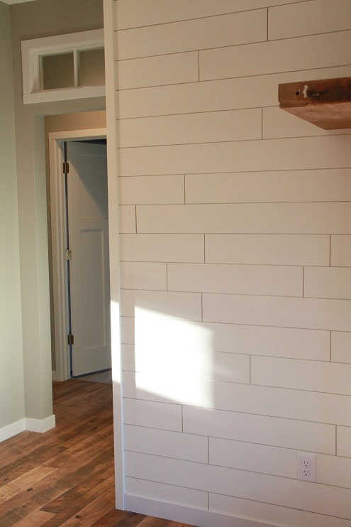 The Tongue & Groove - Painted Shiplap Accent Wall